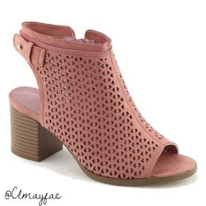 Shoes - New COMFY & SOFT Blush Pink Peep Toe Booties